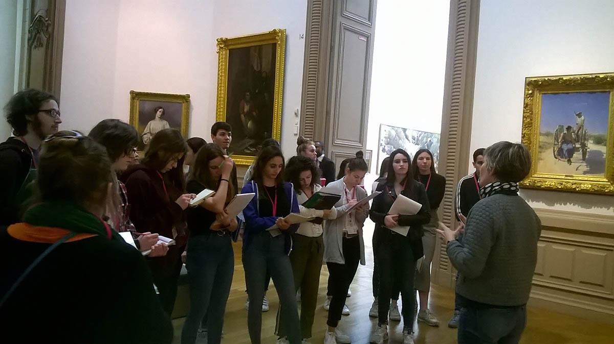 Sortie au musée d'arts de Nantes pour les 1ères scientifiques du lycée Talensac