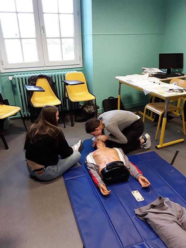 La formation PSC1 au Lycée Talensac
